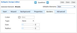 Design Editor Borders-Tab