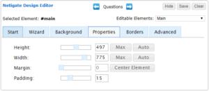 Design Editor Properties Tab