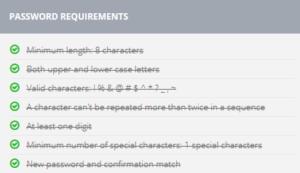 Box Password Requirement