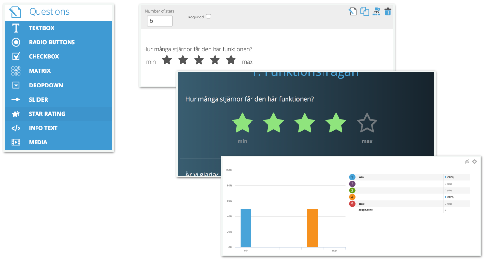 Star rating | Success Center | Netigate Product Update