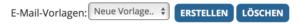 Auswahlleiste E-Mail Vorlagen