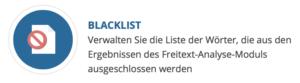 Auswahlbox Blackliste