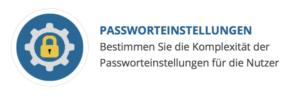 Auswahlbox Passworteinstellungen