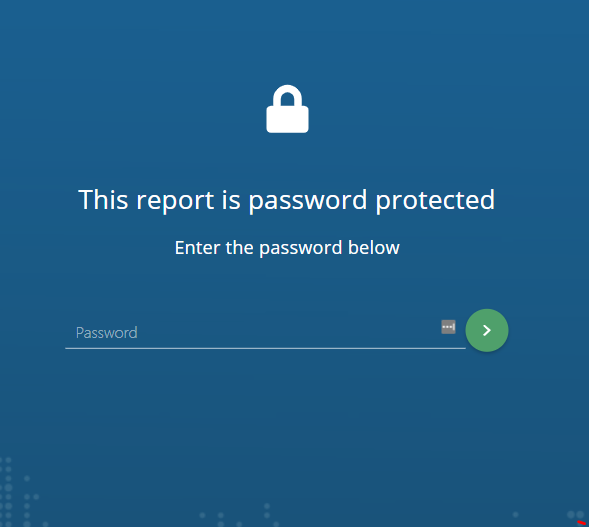 password protected report