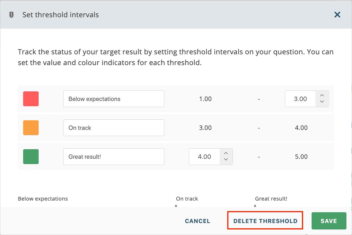 Edit and delete threshold intervals