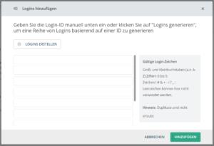 Login-Liste