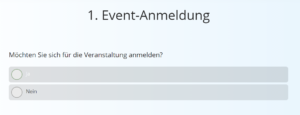 Event-Anmeldung