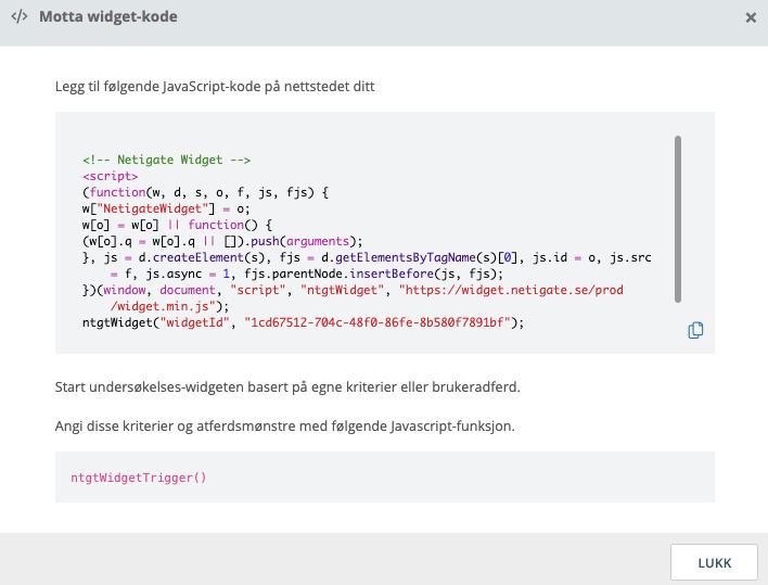 koden til widgeten